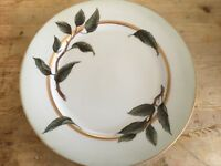 WILLIAMS SONOMA PEAR LEAVES DINNER PLATE Japan EUC