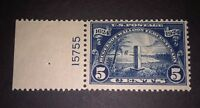 Travelstamps: 1924 US Stamps Scott #616, Mayport Monument mint og not hinged mnh