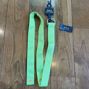 NWT Polo Ralph Lauren Ribbon Belt Citrus Lime Orange Pony Youth XL $40