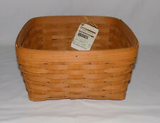New 2016 Longaberger Medium Tabletop Serving Basket Warm Brown Nwts