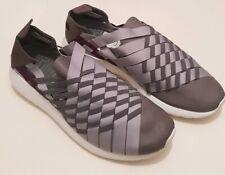 Womens NIKE Roshe Run Woven Grey Purple Trainers Sports Shoes White UK Size 4.5