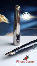 Mont Blanc Fountain Pen Classic Cartridge Filler 585 Functional Black Silver Exc