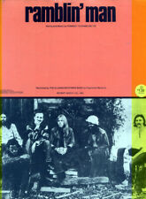 Allman Brothers 1973 Ramblin' Man Sheet Music No Exit / Warner Bros Music 6 Page