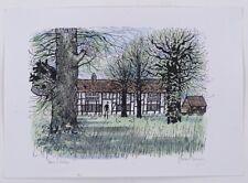 Robert Tavener RE (1920-2004) Trees & Cottage Art Signed Ink & Watercolour UK