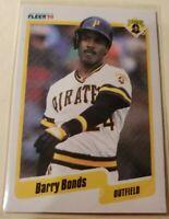 1990 Barry Bonds Fleer Baseball Card #461 Near Mint Condition
