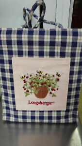 Longaberger Bag-with a clear Rigid insert-So Pretty! Blue & White Check