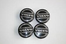 4 x Original Volvo Felgendeckel 864379 schwarz 64mm C70 C60 V70 XC90