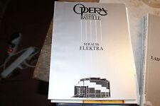 Programme de l'Opéra Bastille de paris strauss elektra