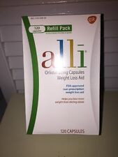 ALLI Weight Loss Aid ORLISTAT 60mg Caps 120 Expiration: 2018 Or Better Sealed!
