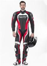 Combinaisons de moto rouge en cuir pour homme