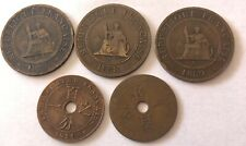 Lot 5 Pieces 1 Centime Indochine (N2619)