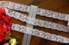 Cluny Style Edge Lace - OFF WHITE - 25mm wide - 5 Metre Lengths