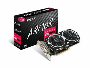 MSI AMD Radeon RX 570 Armor 8GB GDDR5 Graphics Card 8G OC GPU Miner New!
