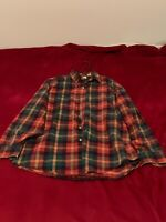 LL Bean Men's Medium Soft Plaid Flannel Long Sleeve Button Down Shirt Pre-owned