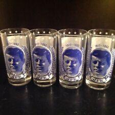 Set of 4 JFK  John F Kennedy 1917-1963 Commemorative President Promo Glasses