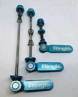 Ringle Twister Titanium Skewer Set 3DV MTB Turquoise Anodized Vintage