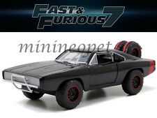 JADA 97038 FAST AND FURIOUS 7 DOM'S 1970 DODGE CHARGER R/T 1/24 OFF ROAD BLACK
