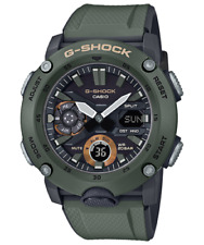 Casio G-Shock Carbon Core Guard Olive Green World Time Watch GA-2000-3A