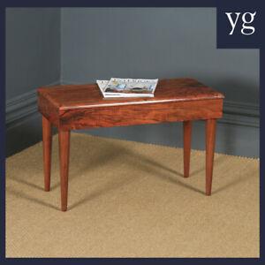 Antique English Art Deco Figured Walnut Bedside Coffee Side Box Table