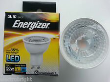"10 x ENERGIZER LED GU10 5W=50W BULBS. WARM WHITE ""A""  NON DIMMABLE ENERGY SAVING"