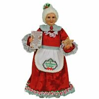 Mrs Santa Claus Figurine Gingerbread Christmas Cookies