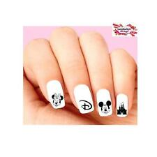 Waterslide Nail Decals Set of 20 - Disney Vacation, Castle, Minnie & Mickey
