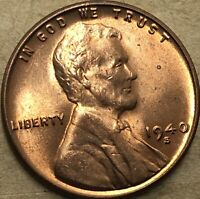 1940 -S. GEM BU Uncirculated San Francisco Lincoln Cent Wheat Penny. Sharp Coin