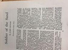 q2-a ephemera 1950s short story soldier in the sand john hynam