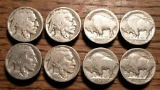 New listing Vintage Buffalo Nickel Button Covers Old Authentic Indian Head 5 Cent *Lot of 8*