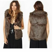 Unbranded Faux Fur Hip Length Waistcoats for Women