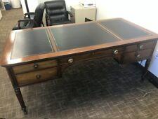 Vintage Kittinger Buffalo Executive Partners Desk w/Leather top