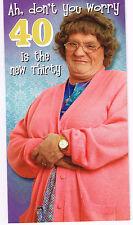 MRS BROWNS BOYS / MBB COMÉDIE Carte D'anniversaire - âge 40 ans / QUARANTE