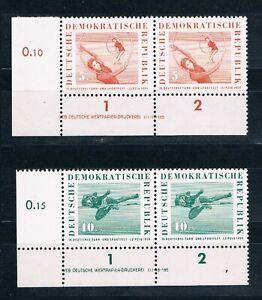 DDR 707-08 DV, Sportfest 1959, 5,10 Pfg. mit Druckvermerk,** DV LUXUS