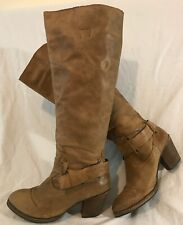 Sixty Seven Brown Knee High Leather Lovely Boots Size 38 (962v)