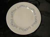 "Wedgwood Josephine Blue 10 7/8"" Dinner Plate Blue Flowers,Silver Trim, Excellent"