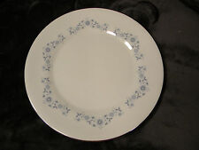 "Wedgwood Josephine Blue 10 7/8"" Dinner Plate Blue Flowers,Silver Trim, Excellent"