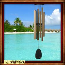 NEW WOODSTOCK CHIMES BELLS OF PARADISE, LARGE, BRONZE, MUSICALLY TUNED