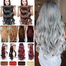 Clip in Hair Extensions Ein Tressen Haarverlängerung Haarteil Hell Weiß Halbhaar