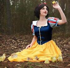 """Snow White Dress Gown Dress Costume, Adult - Your Size Choice Busts 32"""" - 42"""""""