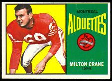1964 TOPPS CFL FOOTBALL #46 MILTON CRANE NM MONTREAL ALOUETTES MISSISSIPPI UNIV