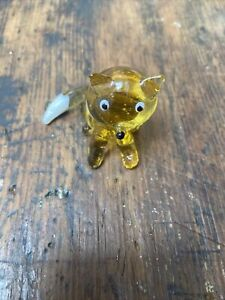 Glass Fox Figurine Ornament