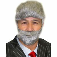 The Most interesting man in the world costume Wig and beard set grey