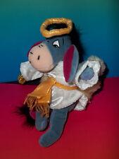 "Disney Store 9"" Winnie The Pooh  EEYORE Plush In Choir Angel Costume GUC"