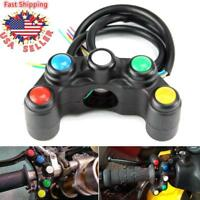 "5 Function Buttons Motorcycle 7/8"" 22mm Handlebar Switches Fog Head Light Hazard"