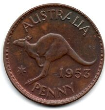 1953 AUSTRALIAN PENNY (1d)  - *** UNCIRCULATED CONDITION ***