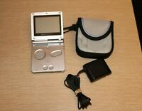 NINTENDO GAMEBOY ADVANCE GBA SP Silver System AGS-001 NEW BATTERY + Accessories