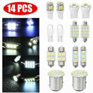 14x Car Interior LED Lights T10 5050 SMD Dome License Plate Lamp Mixed Set