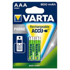 2 Stk Varta AAA 800 mAh Micro Akku Accu NiMH Batterien für Siemens Gigaset S79H