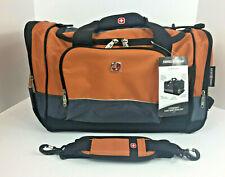 SWISS GEAR Sport Duffel Bag Orange Gray Black Travel Gym SA9000 New