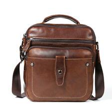 Vintage Brown Man Bag Genuine Leather Messenger Satchel Shoulder Bags Handbag